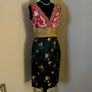 Stunning Asian-inspired silk brocade dress